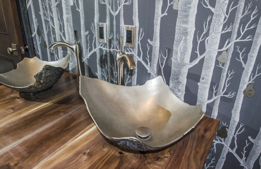 denver interior designers- Rain and body shower combo with a tub deck as a bench designed by Runa Novak of In Your Space Interior Design - InYourSpaceHome.com and RunaNovak.com