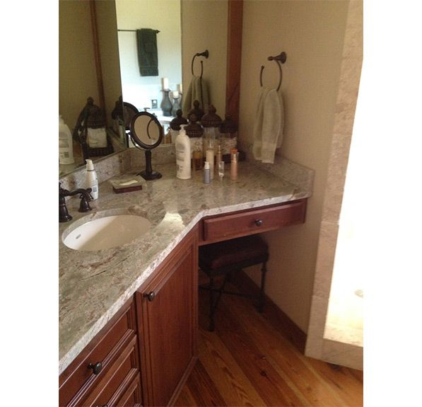 Bathroom Design Denver   Before Photo Of Angled Floating Vanity Area Of  Master Bathroom ...